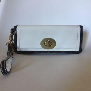 Vintage Coach Legacy Stripe Leather Handbag Clutch