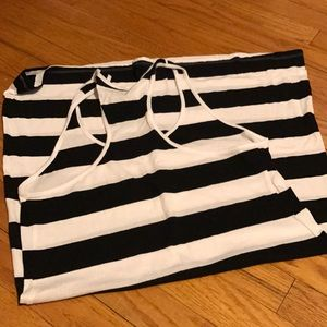 Old Navy black and white cover up dress