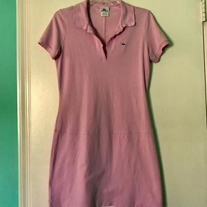 Lacoste Sz40 Light Pink Polo Collared Dress