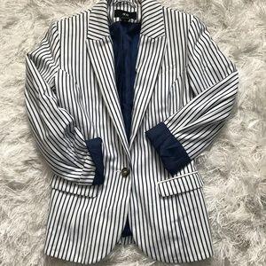 H&M pinstripe blazer
