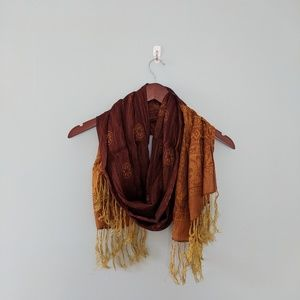 Two toned silk scarf