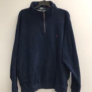 Ralph Lauren Polo XL Fleece 3/4 Zipper Navy
