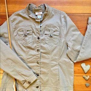 Cotton Jacket With Feminine Detailing