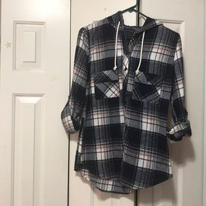 Tops - Hooded flannel