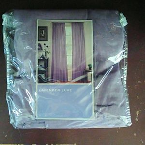 Lavender curtains
