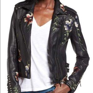 ‼️NWOT‼️ Nordstrom Floral Black Leather Jacket