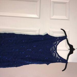 Blue sequins dress