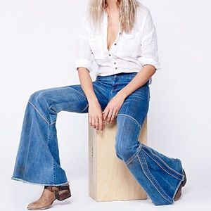 Free People Bambi Seamed Flares jeans Size 26