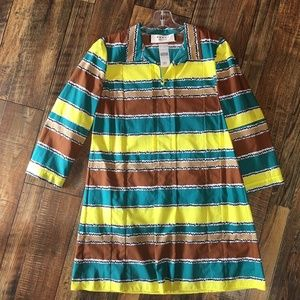 MARNI Graphic Striped Shirt-Dress 42/M/8 NEW!