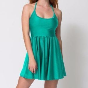 American Apparel Figure Skater Dress in Green