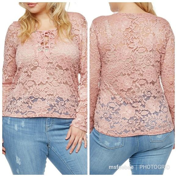 f9f853cd74 Tops | Last 1 Plus Size Long Sleeve Lace Top | Poshmark