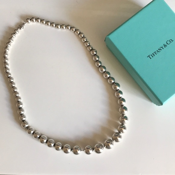Tiffany Co Jewelry Tiffany Sterling Silver Bead Necklace Poshmark