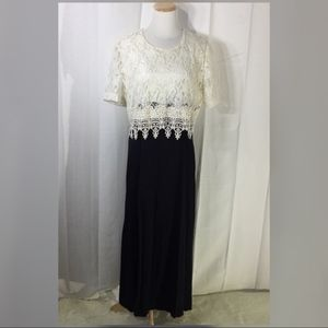 Vintage Jeffrey & Dara lace formal evening gown