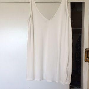 White loose tank top