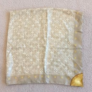 LOVELY Louis Vuitton large silk scarf!