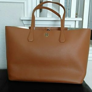 NWT TORY BURCH PERRY TOTE bark/light gold