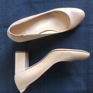 Calvin Klein Nude Block Heel Shoes