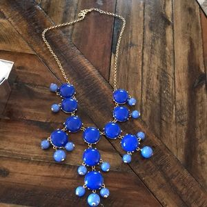 Jcrew Royal Blue Bubble Necklace
