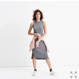 Madewell Ribbed Mockneck Midi Dress