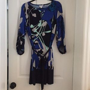 New York & Co  Blue Print Dress