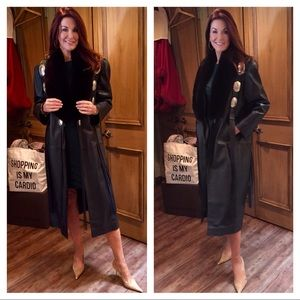Vintage Becca Vedda mink/leather coat