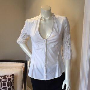 New! Zara Woman White w/ Details Button Down