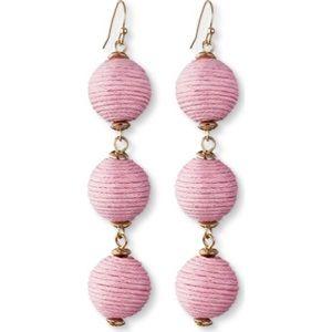 New light pink sugarfix three ball drop earrings