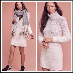 NWT Anthropologie Eyelash Sweater Dress in Small