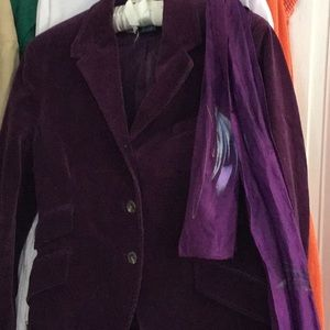 Fitted purple corduroy jacket, 8