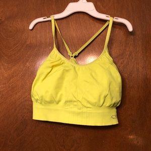 Bright Yellow Champion Sports Bra