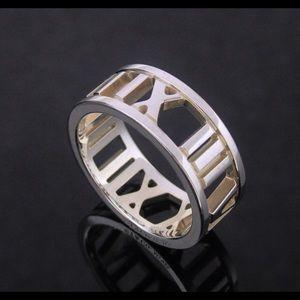 Tiffany & Co. Sterling Wide Atlas Ring Size 4