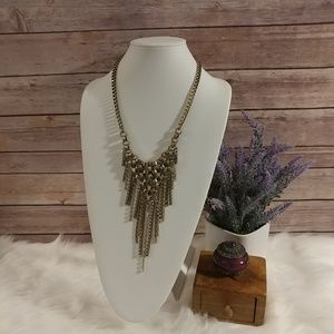 Jewelmint chain waterfall statement necklace