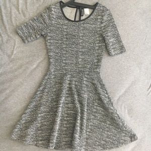 H&M high waist grey fitted dress