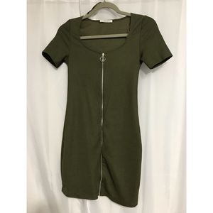 Zara Front Zip Dress