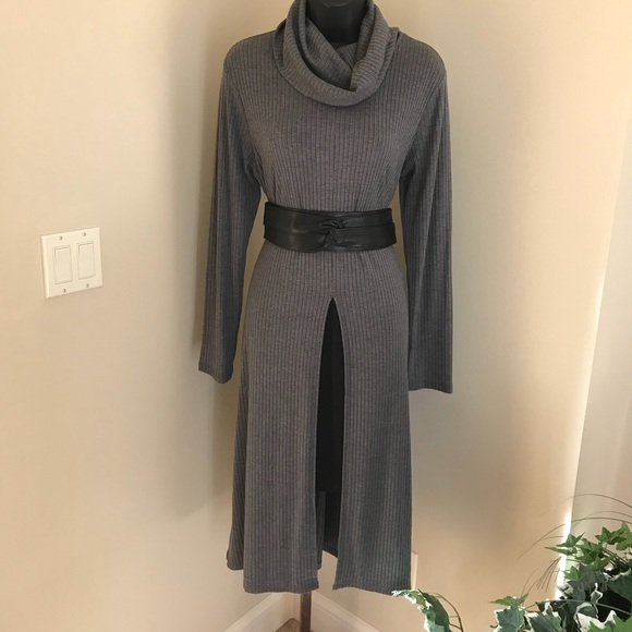 d2cc660f42 Cato Dresses   Skirts - Gray sweater dress with cowl neck.