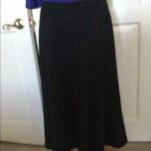 Black Gored Skirt