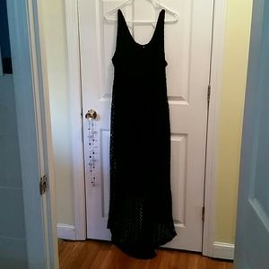 Xhilaration Black Knit Maxi Dress