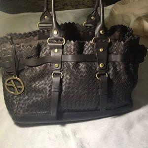 Francesco Biasia chocolate leather purse
