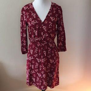 H&M Floral Wrap-Front Dress