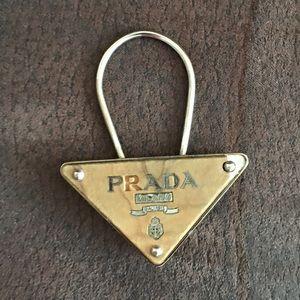 Prada Metal & wood key chain