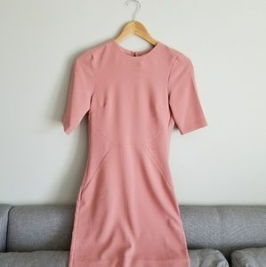 H&M pink dress with open back
