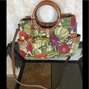 Relic print handbag