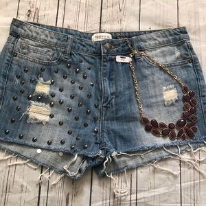 Forever 21 Ripped Jean Shorts