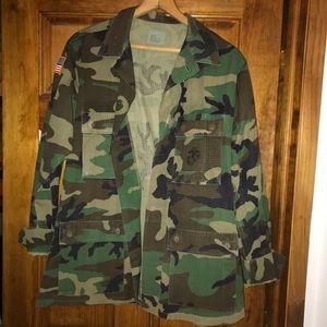 Camo Army Jacket.