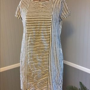 176af685d1c Madewell Dresses - Madewell stripe-play button-back tee dress