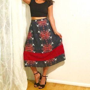 Anthropologie Hemalatha Midi Skirt by Carolina K