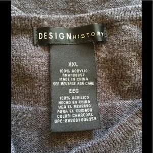 Design History Sweaters - Design History gray plus size sweater