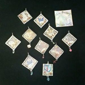 Fairy birth month pendants