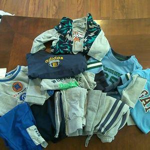 6-9 month boy outfits NIKE, GAP, ADIDAS. Mixed.adi