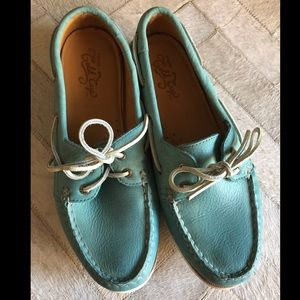 Sperry topsider gold cup boat shoes turquoise